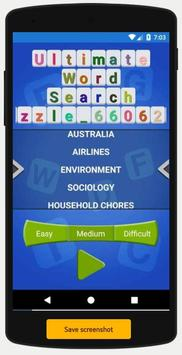Ultimate Word Search Puzzle apk screenshot