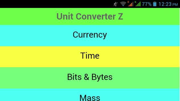 Unit Converter Z apk screenshot