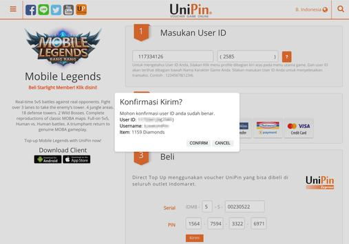 Unipin Topup Diamond Ml Via Pulsa For Android Apk Download