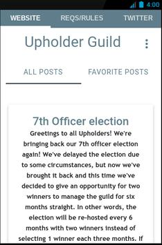 Upholder Guild poster