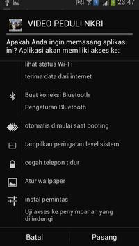 VIDEO PEDULI NKRI apk screenshot