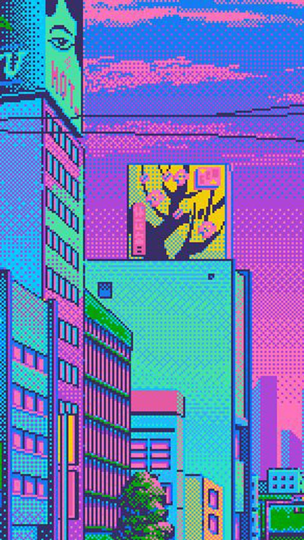 Vaporwave Pixel Aesthetics Live Wallpaper For Android Apk Download