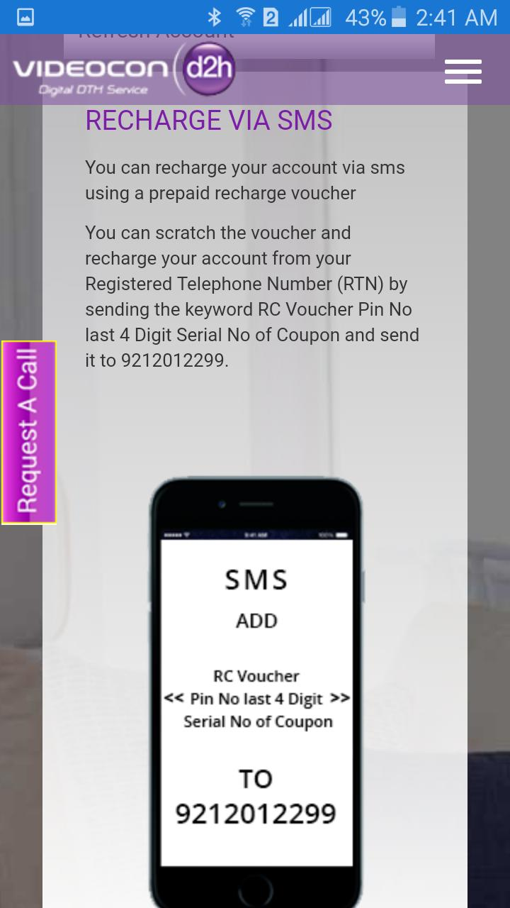 Videocon d2h Recharge Online for Android - APK Download