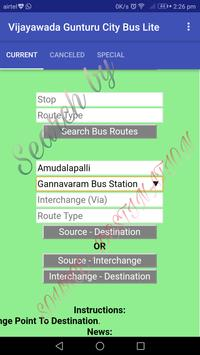 Vijayawada - Gunturu City Bus Lite screenshot 3