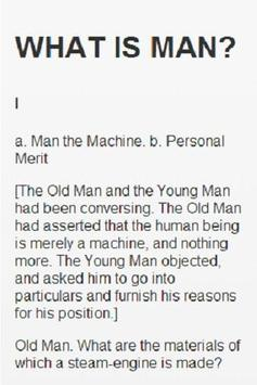 WHAT IS MAN AND OTHER ESSAYS screenshot 1