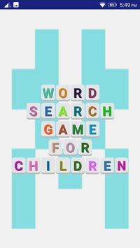 WORD SEARCH GAME FOR CHILDREN poster