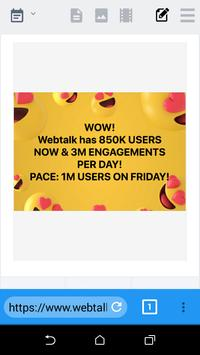 Webtalk Social Browser screenshot 2