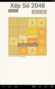 Xếp Hình Xếp Số 2048 screenshot 2