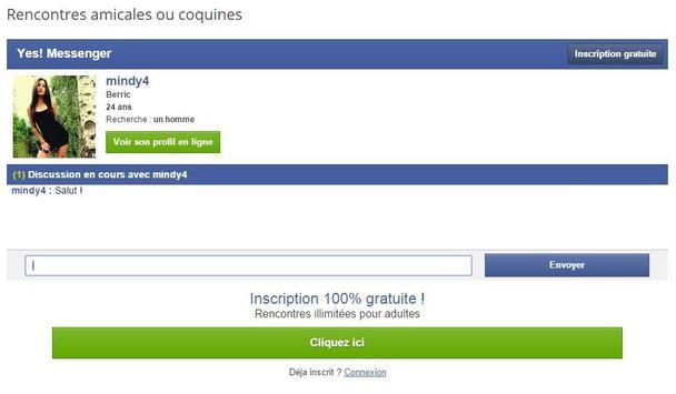 yes messenger super rencontre et tchat gratuit apk screenshot - Tchat Gratui