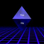 Magic 8-ball in 3D icon
