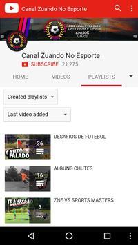 Canal Zuando no Esporte apk screenshot