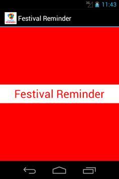 Festival Reminder poster