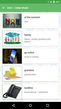 Learn English 8 part 1 apk screenshot