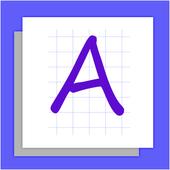 LETTERS Write English ABC 123 icon
