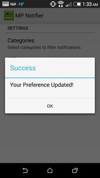 MP Notifier apk screenshot