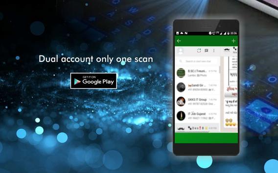 WA Web Dual Messenger App poster
