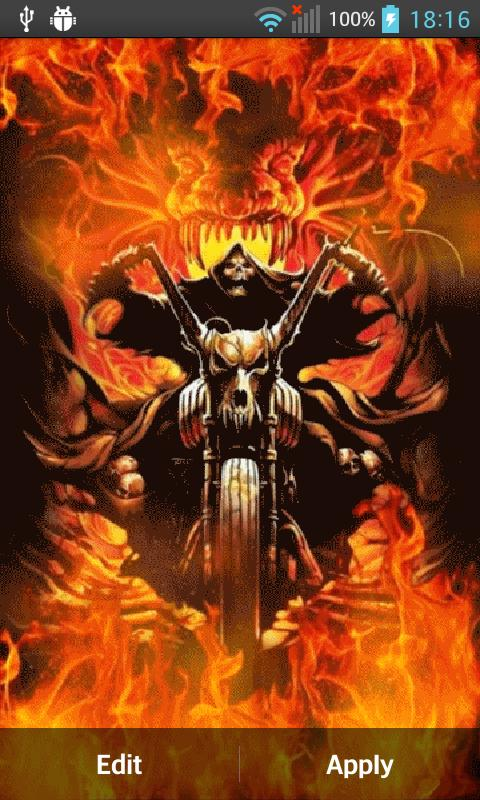... Ghost Rider Wallpaper HD screenshot 3 ...