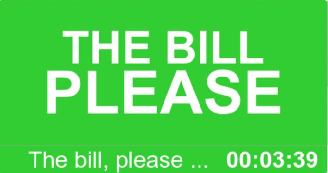 The bill please poster