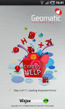 Cyprus Geomatic Map poster