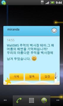 Wali SMS-Beach in memory theme apk screenshot