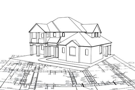 Architecture House Drawing poster