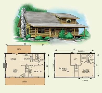 DIY Log Home Plans poster