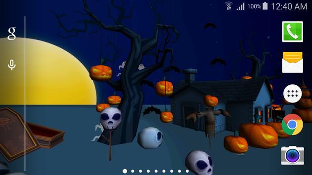 3D Halloween Live Wallpaper poster