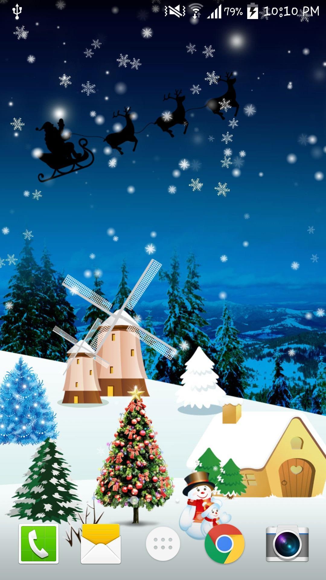 christmas snowfall live wallpaper pro apk
