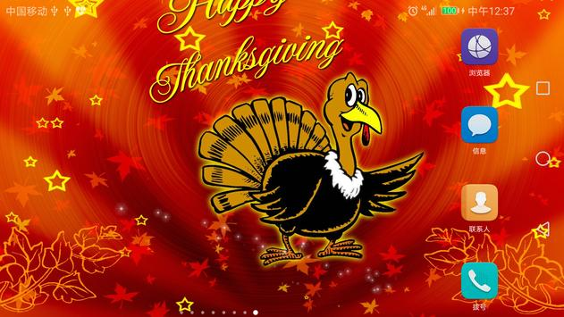 2017 Happy Thanksgiving Live Wallpaper Free screenshot 5