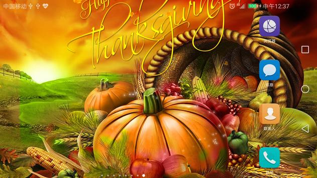2017 Happy Thanksgiving Live Wallpaper Free screenshot 7