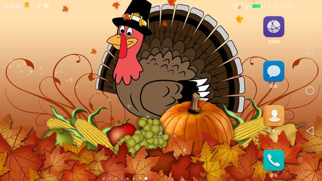 2017 Happy Thanksgiving Live Wallpaper Free poster
