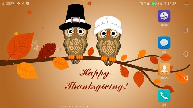 2017 Happy Thanksgiving Live Wallpaper Free screenshot 1