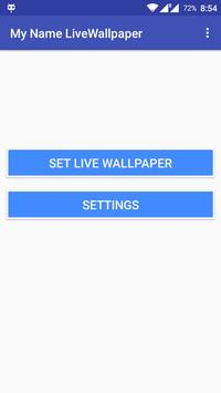 My Name Live Wallpaper apk screenshot