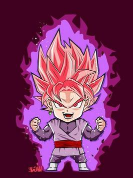 Wallpaper Goku Chibi Art poster