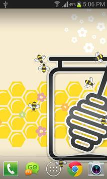 Honey Bees Live Wallpaper Free poster