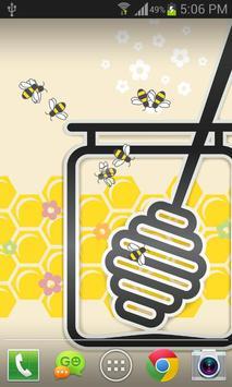 Honey Bees Live Wallpaper Free apk screenshot