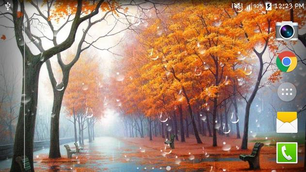 Maple Droplets Live Wallpaper apk screenshot
