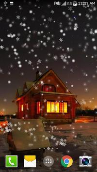 Snow Night City live wallpaper apk screenshot