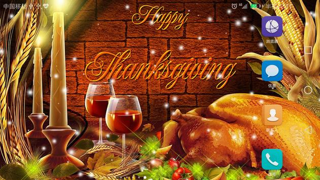 2017 Happy Thanksgiving Live Wallpaper screenshot 7