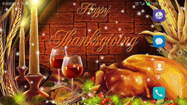 2018 Happy Thanksgiving Live Wallpaper screenshot 7