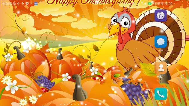 2017 Happy Thanksgiving Live Wallpaper poster