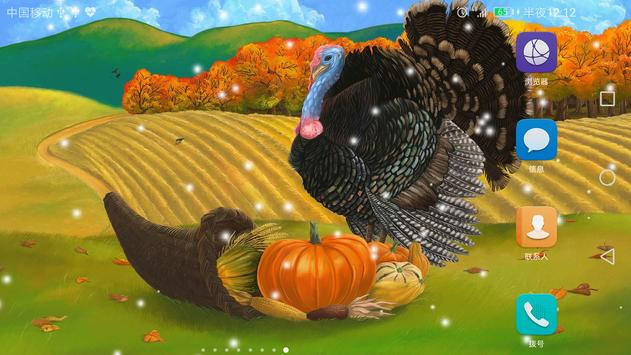 2017 Happy Thanksgiving Live Wallpaper screenshot 3