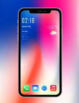iPhone X wallpapers 4K- HD Launcher poster