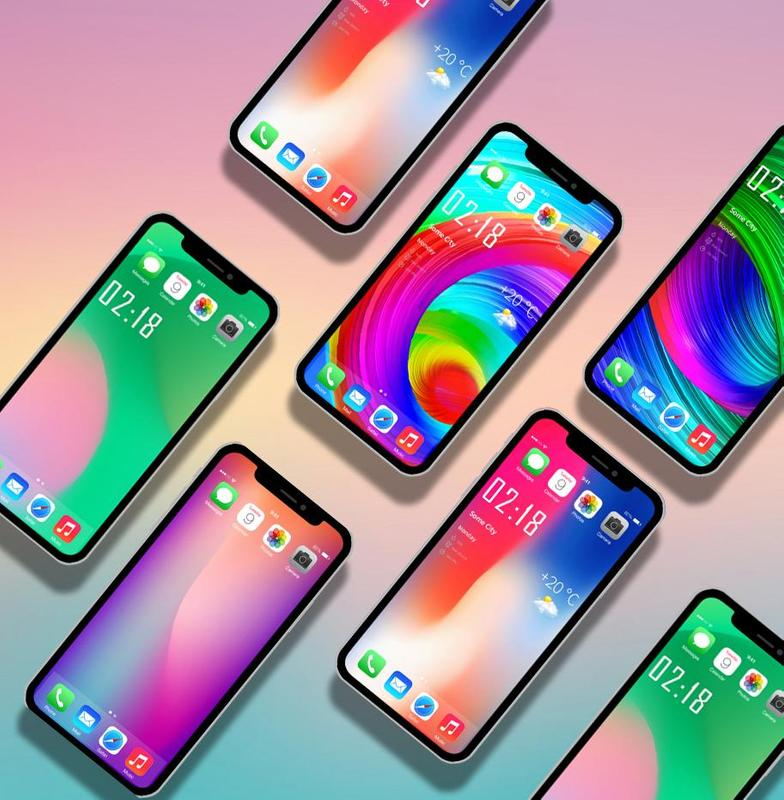 Home Wallpaper Iphone: IPhone X Wallpapers 4K- HD Launcher For Android