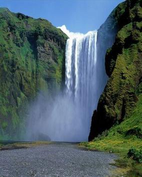 Natural Waterfalls Wallpaper poster