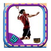 Wallpaper of badminton icon