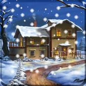 Snow Night City Live Wallpaper Free 2017 icon