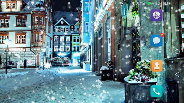 Snow Night City Live Wallpaper Free 2017 screenshot 6