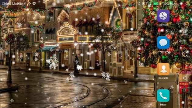 Snow Night City Live Wallpaper Free 2017 screenshot 2