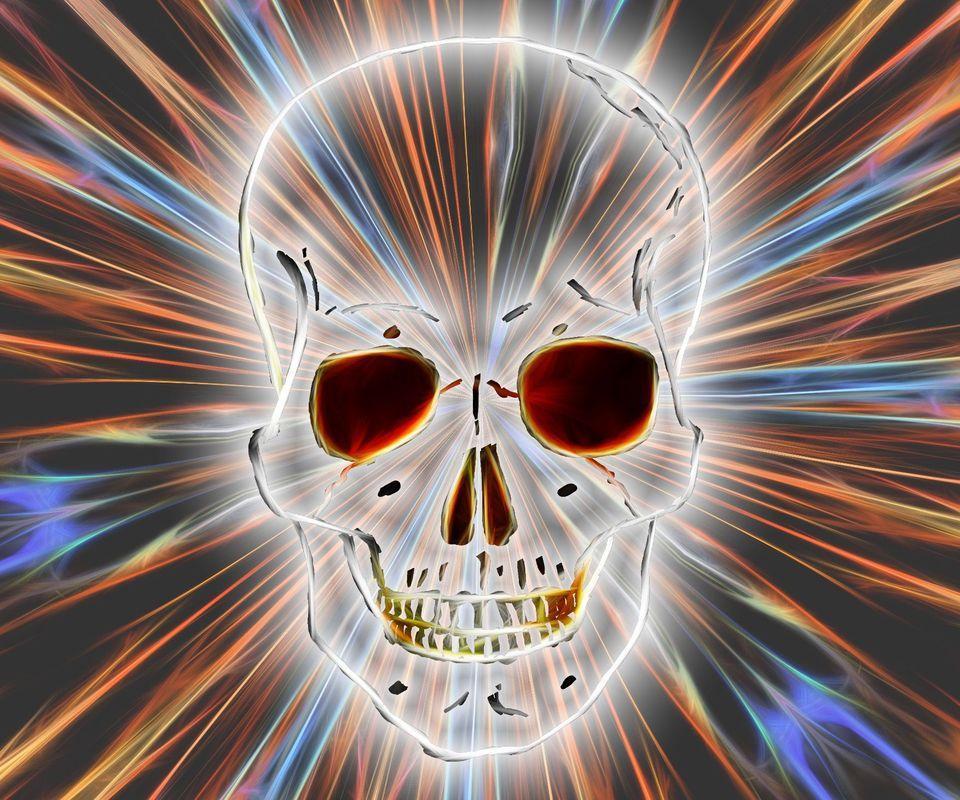 Neon Skull Wallpaper For Android